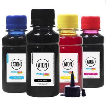 Kit tinta para impressora canon cl141 cmyk aton 100ml -