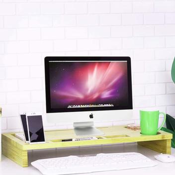 Mesa suporte monitor tv notebook organizador madeira maciça