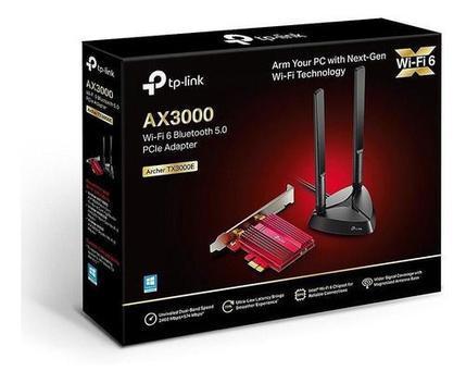 Placa de rede wireless tp-link wifi 6 ax3000 - archer tx3000