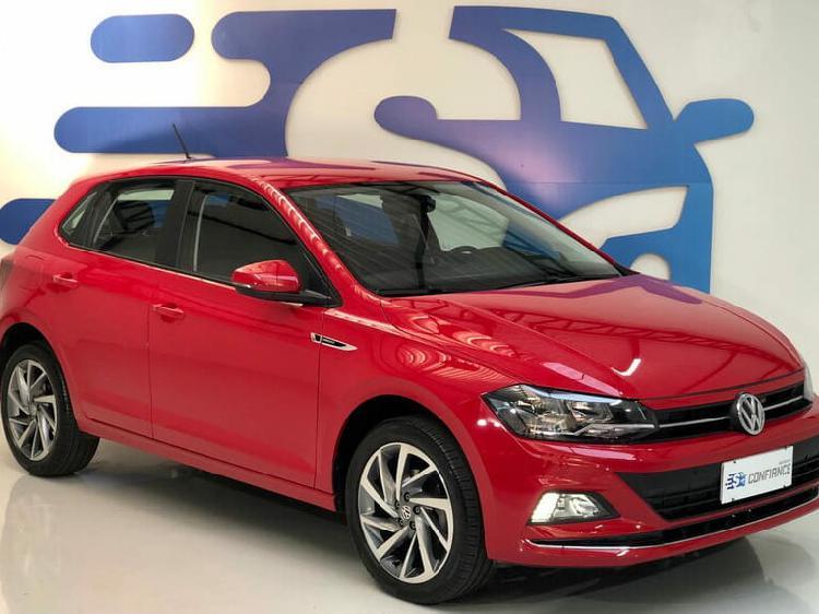 Volkswagen polo hatch 1.0 200 tsi highline vermelho