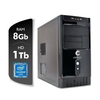 Computador intel dual core j4005 2.0 ghz 8gb hd 1 tb certo