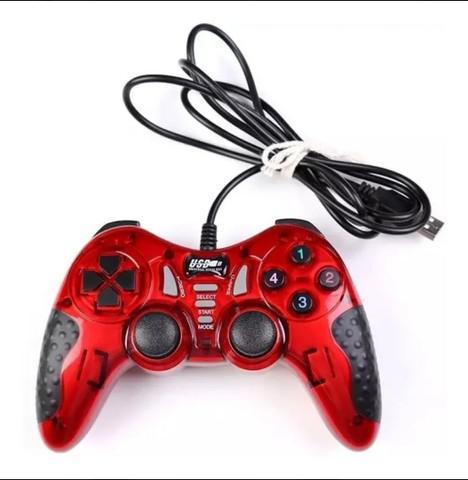 Controle joystick usb - vermelho