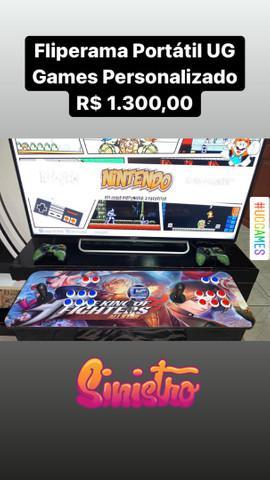Fliperama portátil ug games 5000 jogos