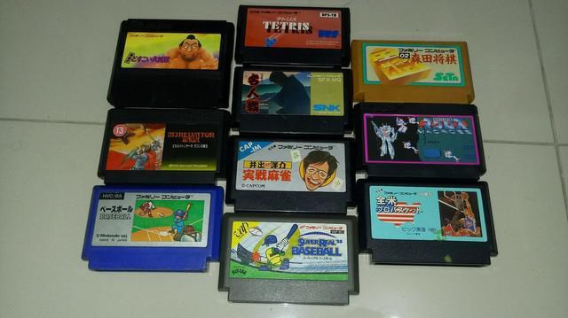 Lote jogos famicom nintendinho original