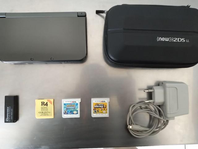 Nintendo new 3ds xl + 64gb + jogos + r4 + carregador