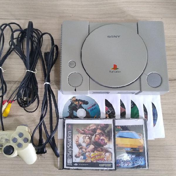 Playstation (ps1) fat destravado, com leitor funcionando e