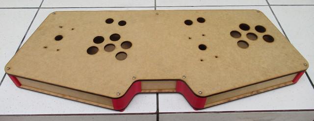 Sanwa caixa dupla joystick controle fliperama mdf 6mm crú