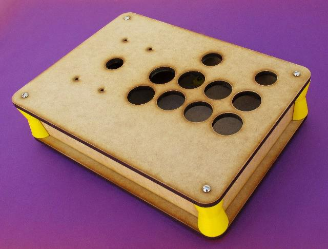Sanwa caixa joystick controle fliperama mdf 6mm crú