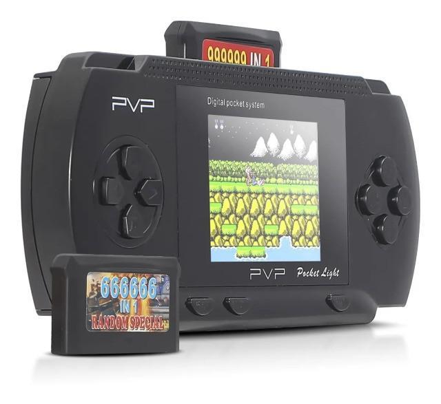 Vídeo game portátil varios jogos clássicos 8bit pvp