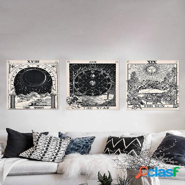 3 unidades mandala tarot cartão padrão cobertor tapeçaria tapeçarias tapeçarias sol lua decoração de parede