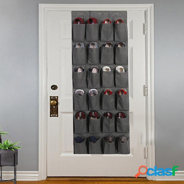 24 grade porta suspensa bolsa sapato armazenamento parede suspensão casa não tecido armazenamento bolsa