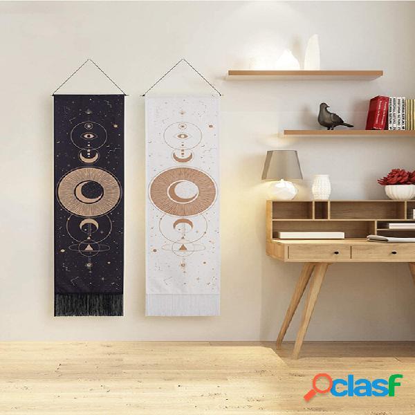 Bohemian tapestry moon and star padrão art home decoration decoração de quarto de sala de estar
