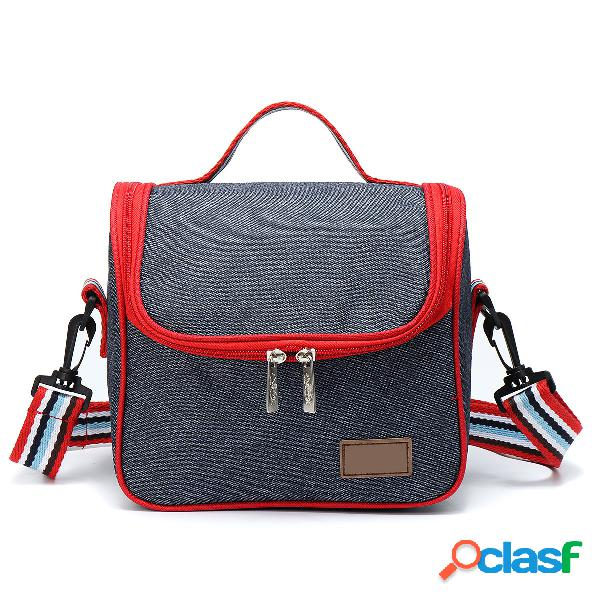 Piquenique portátil ao ar livre bolsa isolados almoço térmico caixa carry tote storage bolsa caso