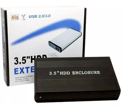 Case hd externo sata 3.5 usb 2.0 gaveta pc - lehmox -