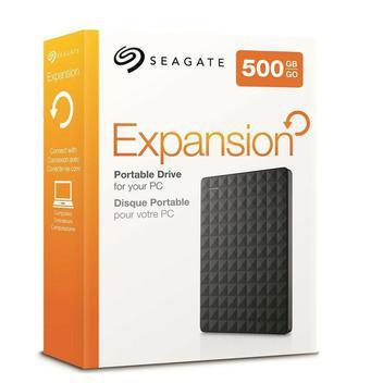 Hd externo 500gb seagate portátil expansion - hd externo -