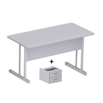 Mesa escritório 1,20x0,60m - c/ 02 gavetas - incoflex -