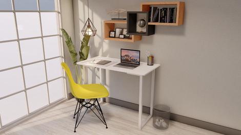 Mesa multi escrivaninha p/notebook home office 100x50 branca