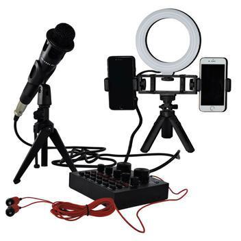 Placa de som bluetooth + iluminador de led kit produção -