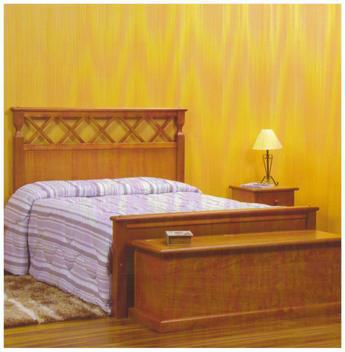 Cama de casal king madeira maciça 1,95 x 2,05 - móveis de
