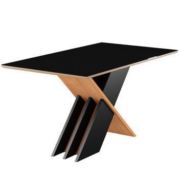 Conjunto de mesa 6 cadeiras tampo vidro sarah sonetto -