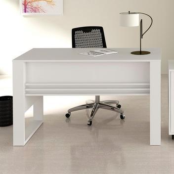 Mesa escritorio, tecno mobili, me4146, branco - tecno mobili