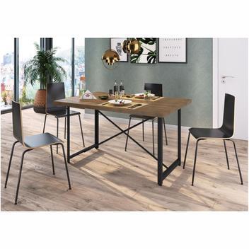 Mesa jantar steel light 4 lugares vermont/preto artesano -