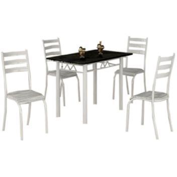 Mesa laura com tampo de granito e 4 cadeiras medida 10060 -