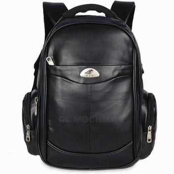 Mochilas bolsa masculina couro notebook executiva reforçada