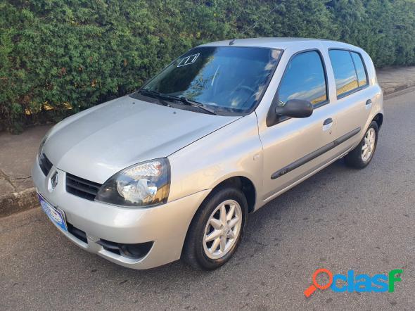 Renault clio hi-flex 1.0 16v 5p prata 2011 1.0 flex
