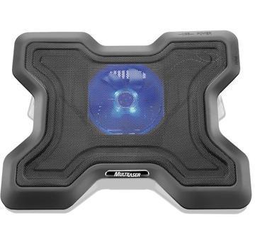 Base para notebook ergonômico com led azul 1 cooler e porta