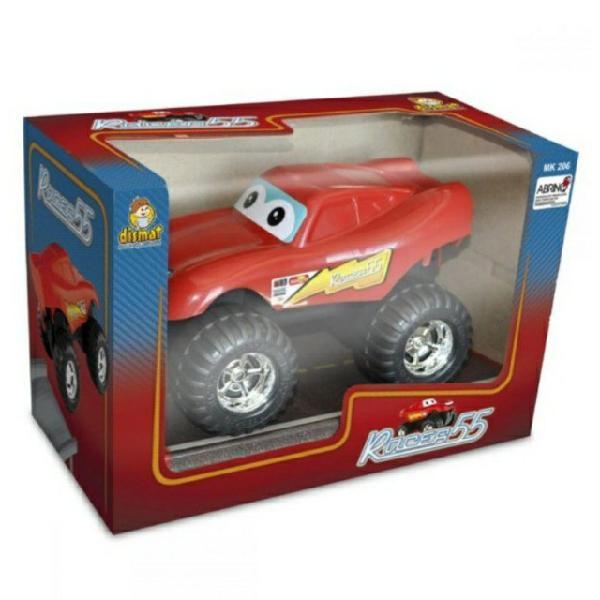 Brinquedo carrinho monster infantil race dismat - vermelho
