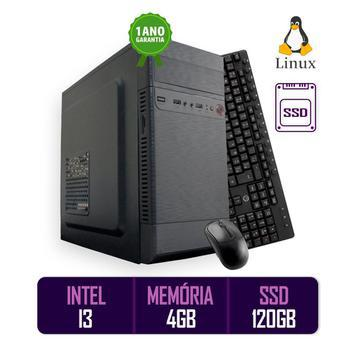 Computador pc cpu intel core i3 4gb ssd 120 kit best pc -