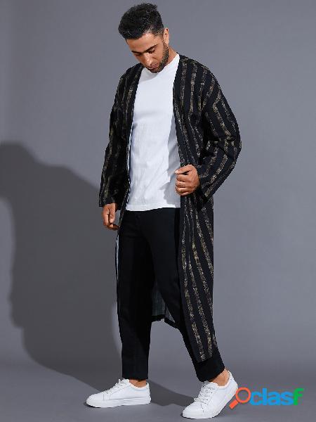 Casaco masculino casual estilo étnico estampa cardigã