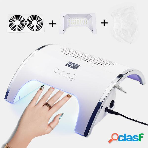 2 in1 lâmpada para fototerapia unhas coletor de sucção e coletor de sacos poder forte secagem rápida unhas secador