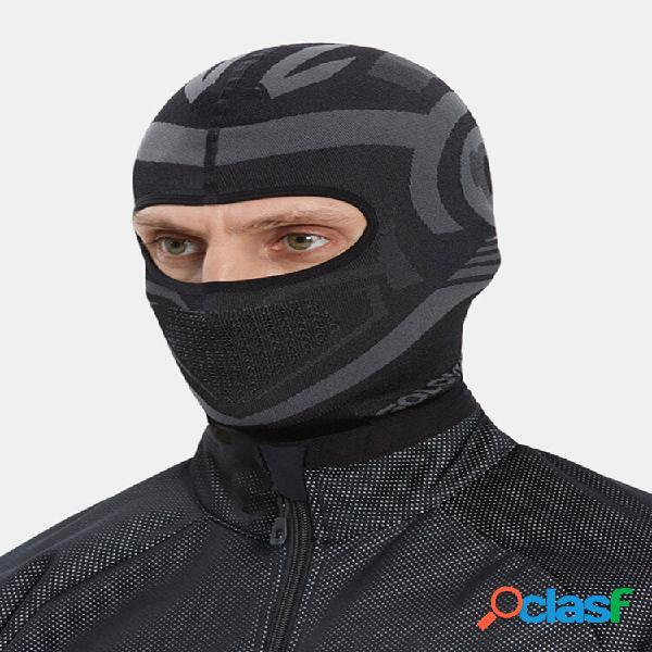 Masculino plus espesso de secagem rápida respirável mantenha aquecido esqui para passeios ao ar livre proteção facial tr