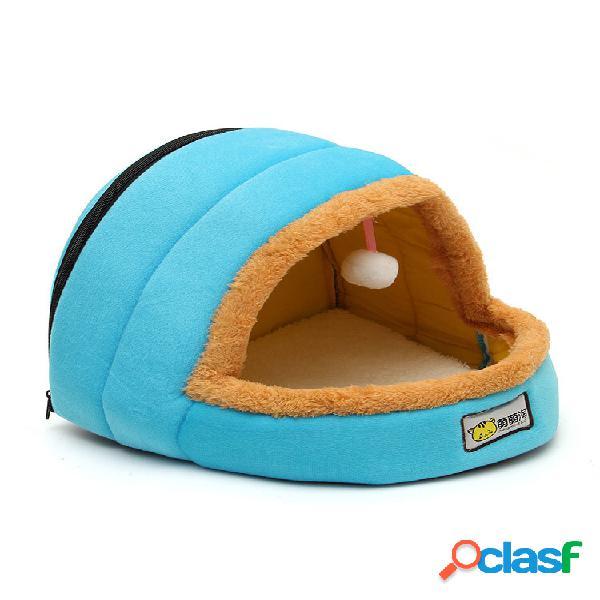 Pet house kennel cat soft quente pet nest cat kitten nest puppy cachorro cave pet basket pet mat