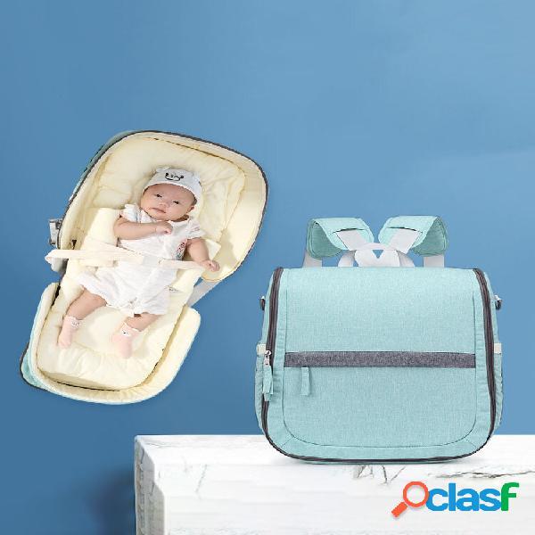 Mochila multifunções mommy bolsa para mulheres com cama dobrável para transporte