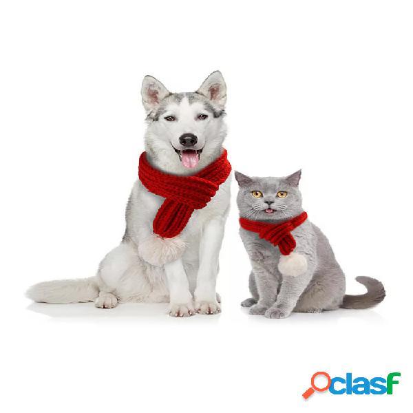 Pet criativo tricô cachecol jóias babador gato cachorro cachecol suprimentos para animais de estimação