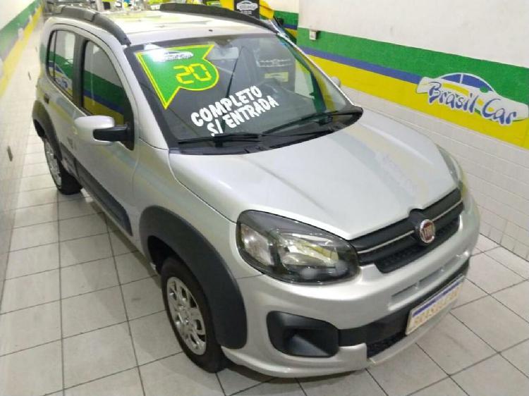 Fiat uno 1.0 firefly way prata 2020/2020 - são paulo