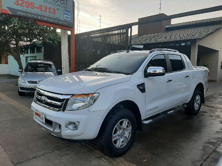 Ford ranger 3.2 limited 20v branco 2014/2015 - goiânia