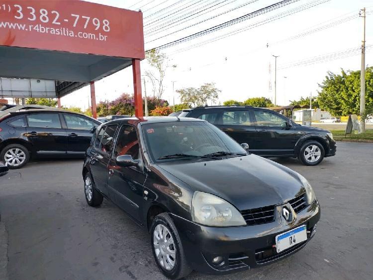 Renault clio 1.6 authentique preto 2007/2008 - brasília