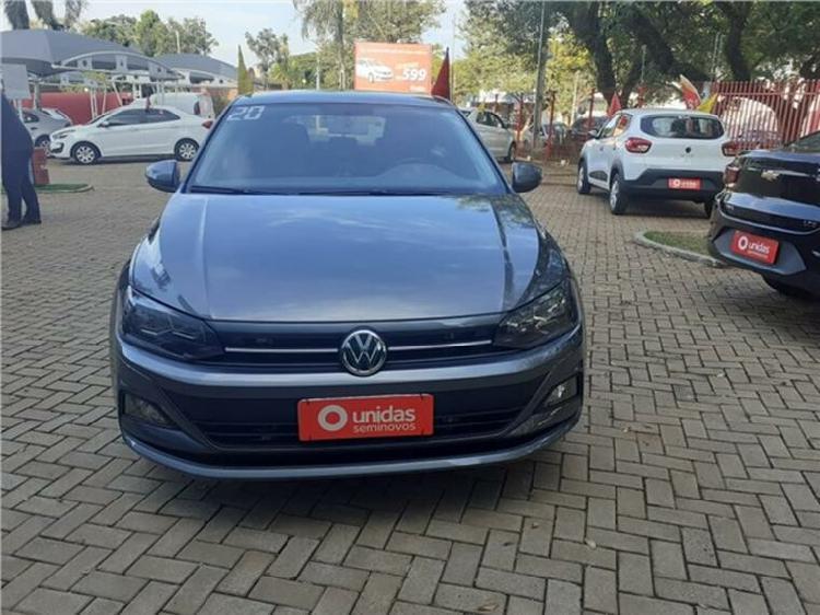Volkswagen polo hatch 1.0 200 tsi comfortline cinza