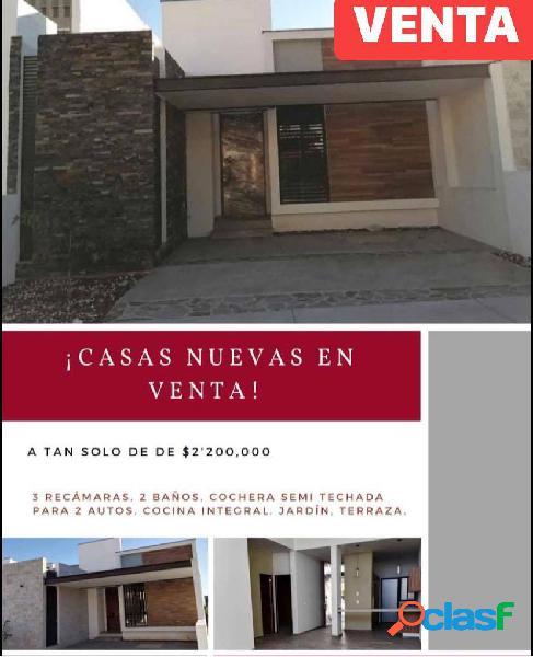 Casas nuevas en venta de una sola planta zona norte villa de alvarez