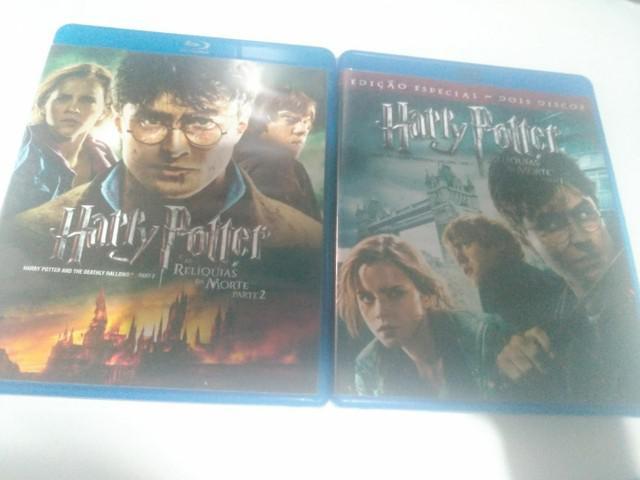 Blu-ray originais de harry potter: relíquias da morte