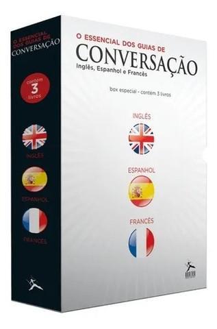 Box guias de conversação - 3 volumes inglês francês