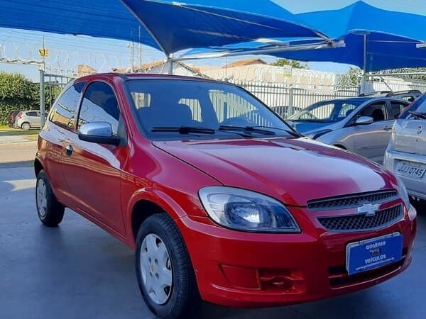 Chevrolet celta 1.0 ls 8v vermelho 2011/2012 - goiânia