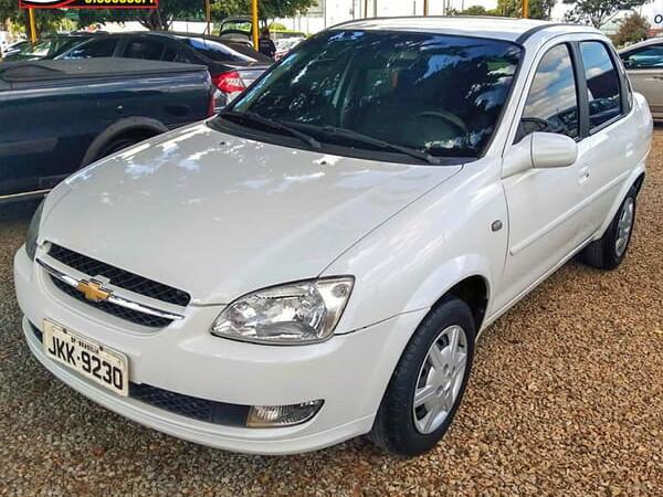 Chevrolet classic 1.0 ls 8v branco 2013/2014 - brasília