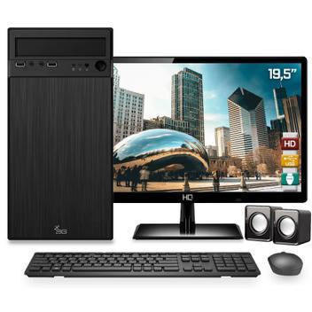 Computador completo intel dual core 4gb hd 500gb monitor