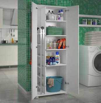 Armário lavanderia 2 portas multiuso área serviço -