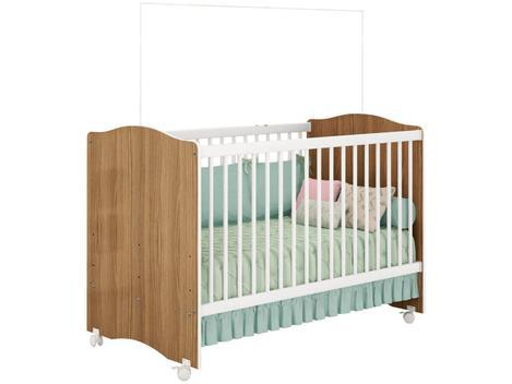 Berço/mini cama grade removível 4 rodízios - 3 ajustes de